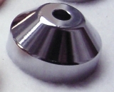 Spindle-Adapter Stainless Steel CHROME (Conical For 7Inch)